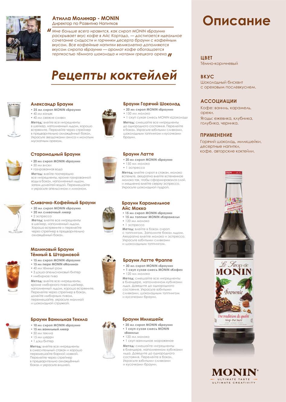 Рецепты коктейли из сиропов
